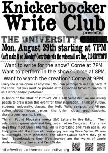 Write Club 2011-08-29 Poster