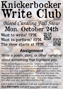 Knickerbocker Write Club Poster - 2011-10-24