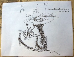 Collaborative Drawing: 2012-06-10-Aliens with the Eyes
