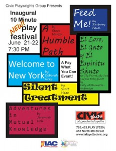 Civic Theatre Playwrights 2013 10-Minute Play Festival Poster 02