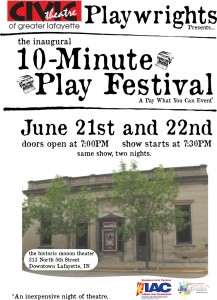 Civic Theatre Playwrights 2013 10-Minute Play Festival
