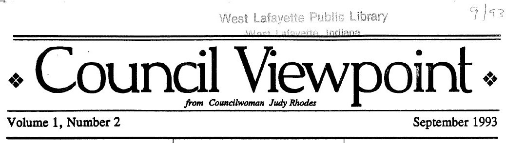 Council Viewpoint Vol 1.2 Judy Rhodes 1993-09