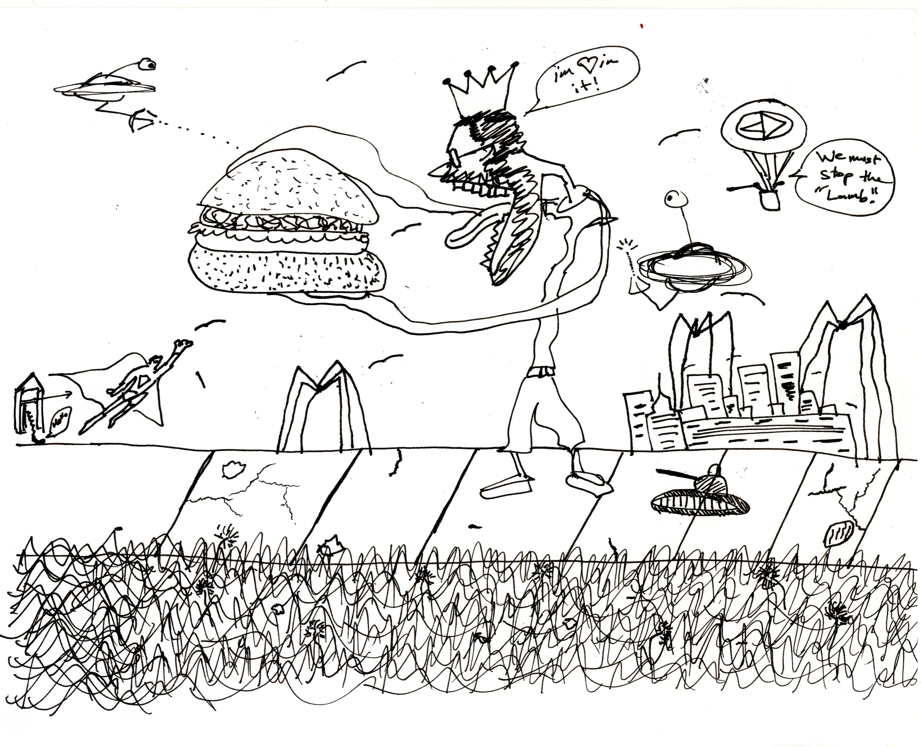 Fez Drawings Burgers and