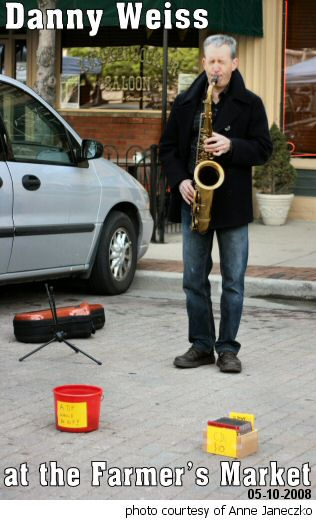 Danny Weiss playing at the Farmer's Market